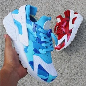 Custom Fire&Ice Camo Huaraches READ DESCRIPTION